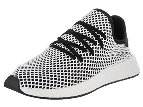 adidas Mens Deerupt Runner Lace Up Sneakers Shoes Casual - Black,White - Size 10.5 D