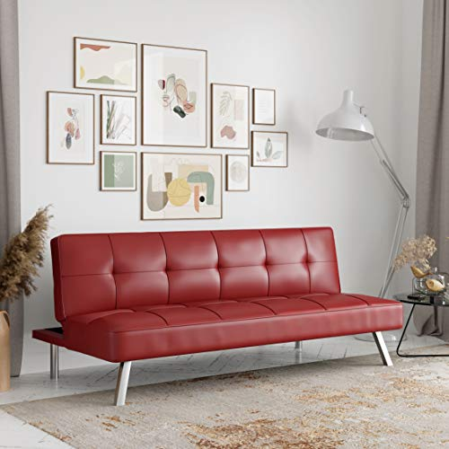 Serta Rane Collection Sofabed, Full, Red