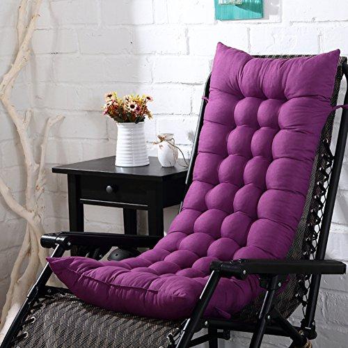 GLLSZ Patio Rocking Chair Cushion Outdoor,Thicken Extra Large High Back Chaise Lounger Cushion Seat Cushion,Portable Sun Lounger Cushion Deep Purple 155x48cm(61x19inch)