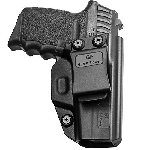 SCCY 9mm CPX1 CPX2 Holster, Inside Waistband Concealed Carry Belt Clip for Pistol, Gun Holster for Men/Women |Adj. Cant & Retention