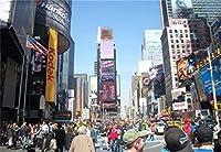 10x7フィート ニューヨーク タイムズ スクエア 背景 モダン シティ 高層ビル ビニール 写真背景 透明 空 さまざまな広告ボード イエロー タクシー 車 ファイナンシャル・ディストリクト 映画 撮影 ビデオスタジオ