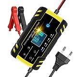URAQT Cargador Baterias Coches, 8A 12V/24V Mantenimiento Automático e...