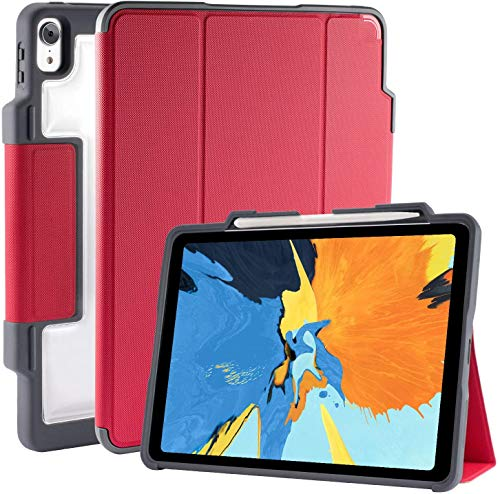 STM Dux Plus, ultra-protective case for Apple 11' iPad Pro with Pencil storage - Red (stm-222-197JV-02)