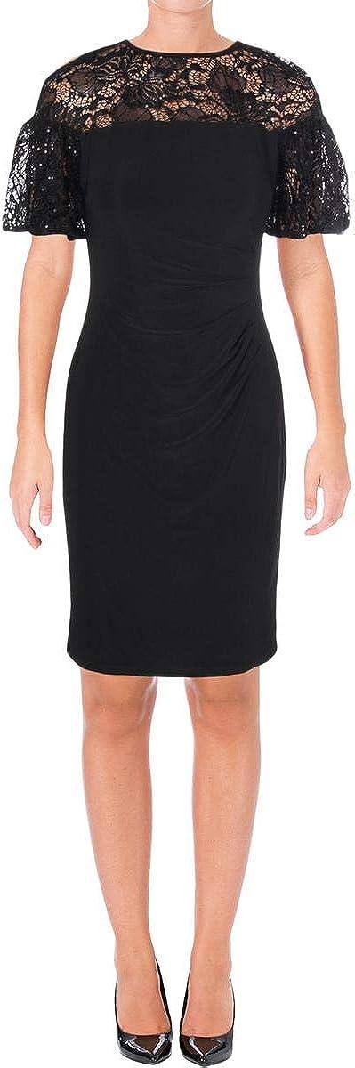 Lauren by Ralph Lauren Women's Sequin-Trim Dress