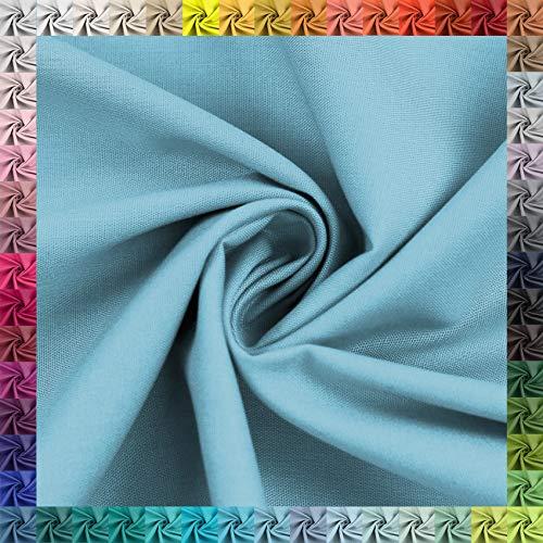 Baumwollstoff Uni 100% Baumwolle Oeko-Tex Meterware über 50 Farben zur Auswahl (049 Himmelblau, 50 x 148cm)