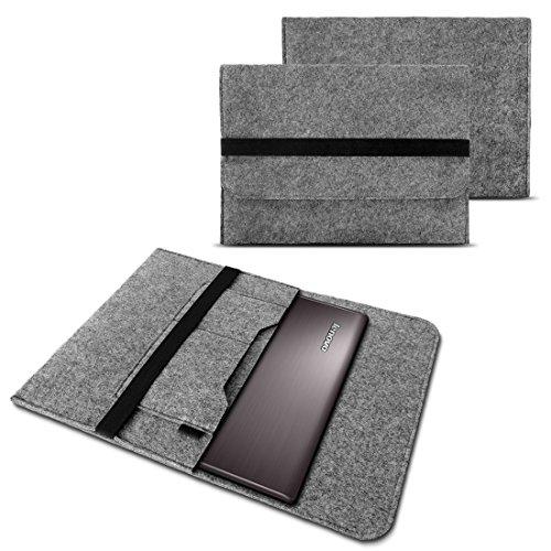 NAUC Tasche Hülle für Case Cover Notebook für Lenovo Miix 510/700 / 720 Filz Sleeve Schutzhülle aus Filz mit Innentaschen und sicheren Verschluss, Farben:Hell Grau