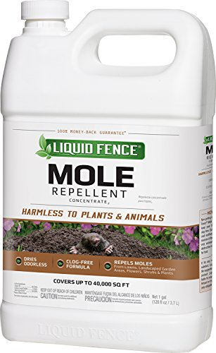 Liquid Fence 70167 HG-70167 Mole Repellent Concentrate, 1-Gallon, 1 gal, clear