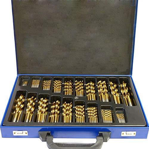UISEBRT 170-tlg Metallbohrer Set 1-10mm DIN338 HSS Holzbohrer Satz Spiralbohrer Bohrersets für alle handelsüblichen Bohrmaschinen (170-tlg)