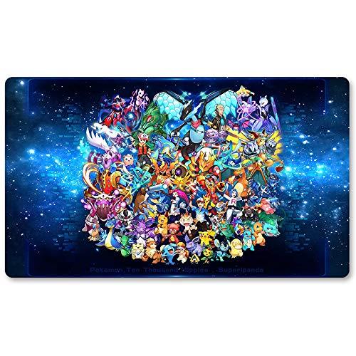 Pocket Monster96 – Brettspiel Pokemon Spielmatte Spiele Tastatur Pad Größe 60 x 35 cm für Yugioh Pocket Monster MTG oder TCG Tischmatte