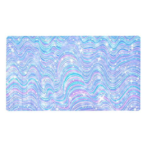 Bath Mat Non-Slip Luminous Watercolor Suction Cups Best Durable and Stylish in Bath Mats Anti-Slip Shower Mat with Modern Design Quality Suction Cups 15.7x27.9 in