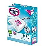 Handy Bag - M50 - 4 Sacs Aspirateurs, pour Aspirateurs Miele, Fermeture Hermétique, Filtre Anti-Allergène, Filtre Moteur