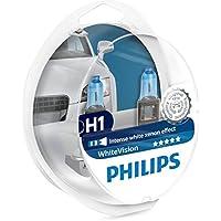 Philips WhiteVision Xenon Effect H1, lámpara de faro 12258WHVSM, paquete doble