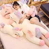 40-100cm Juguetes de Peluche de Unicornio Encantador tamaño Gigante Unicornio Animal de Peluche Caballo de Juguete Suave muñeca de Moda Regalo para niños 100cm Blanco