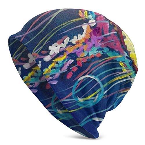 wonzhrui Aquarelle colorée sous la mer océan méduse Bonnets légers Chapeaux en Cours d'exécution crâne Casquette Casque Doublure Casquettes de s