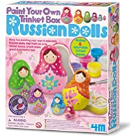 4M - Paint Your Own Trinket Box Russian Dolls, juego de creatividad (004M4617) , color/modelo surtido