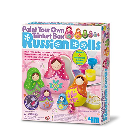 Great Gizmos Paint Your Own Trinket Box-Russian Dolls