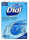 Dial Antibacterial Deodorant Bar Soap, Spring Water, 4-Ounce Bars, 10 Count...