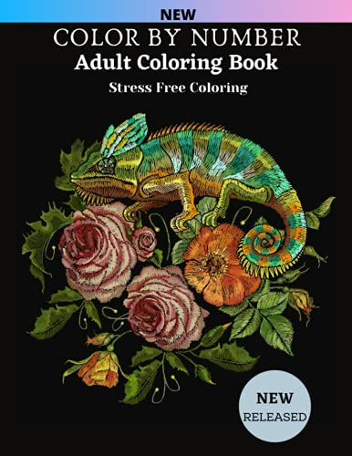 Color By Number Adult Coloring Book Stress Free Coloring: Easy Large Print...