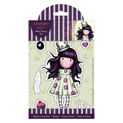 Docrafts Santoro Gorjuss Rubber Stamp, us:one size, Multi-colour