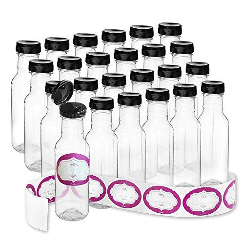 Case of 32-12 Oz. Empty Sauce Bottles - Food Grade Plastic Refill Bottles With Flip-Top Caps For Easy Dispensing - Bottling Homemade Sauces, Dressings or Ketchup