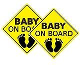 FAMKIT Auto-Aufkleber Baby On Board Aufkleber Auto Aufkleber Sicherheitsschilder Selbstklebend Einfach zu installieren Wasserdicht Langlebig