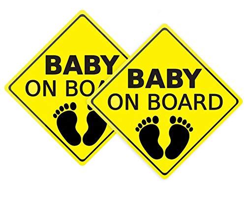 FAMKIT Autoaufkleber Baby on Board Aufkleber Autoaufkleber Sicherheitsschilder selbstklebend einfach anzubringen wasserdicht langlebig