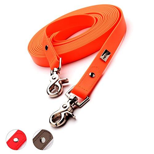 PetTec Hundeleine, Schleppleine & Führleine *2m - 10m* bis 80kg, verstellbare Trainingsleine/Ausbildungsleine/Trekkingleine für Hunde aus TRIOFLEX (ähnl. Biothane), wasserabweisend & robust, Dog Leash
