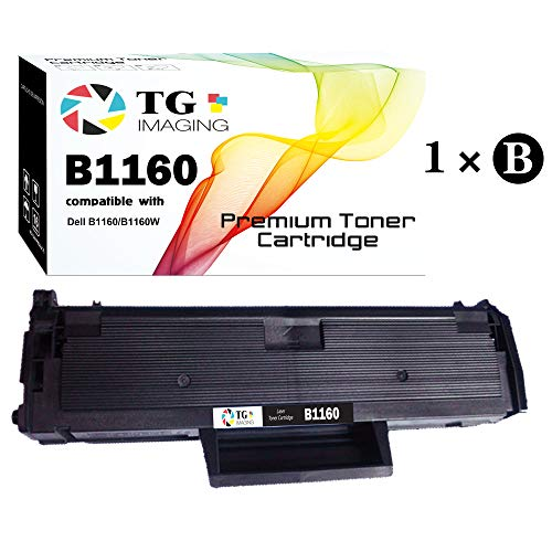 (1-Pack, Black) TG Imaging Compatible 331-7335 B1160 Toner Cartridge for Use in Laser B1160, B1160w, B1163w, B1165nfw Printer