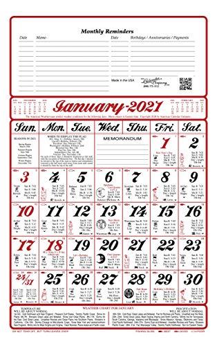 2021 America's Original Almanac Calendar