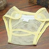 HehiFRlark - Diseño de malla lavable para pañales, pañales reutilizables, color amarillo