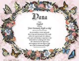 Butterflies - Personalized ANY First Name Meaning Keepsake Print 8.5' x 11' | Artwork Home Decor Kids Room Butterfly Colorful Pink