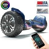 """*Bluewheel 8.5"""" *Hoverboard patí elèctric HX510 amb UL2272 estàndard de Seguretat, Canvia de Color amb l'App, Altaveu *Bluetooth, Motor 700W, Patinet elèctric amb Cobertura d'Alumini (Blau)"""
