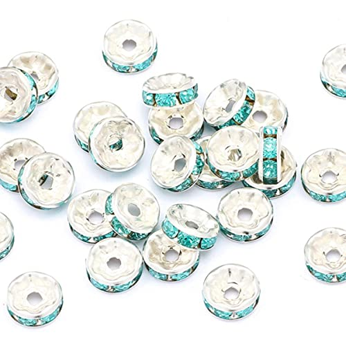 50pcs 4/6/8 / 10mm Diamante de imitación de oro rosa s Cuentas...