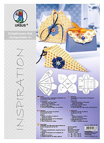 Ursus 55830099 - Inspiration Set 4, 3 Schablonen für Geschenkschachteln
