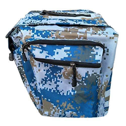 N\C Pannier Trunk Bag Bolsa de Rejilla Trasera con Cinta - Camuflaje Azul