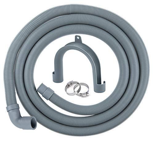 ilauke Kit de extensión de manguera de drenaje universal de 2,5 m para lavadora, lavavajillas y otras aplicaciones