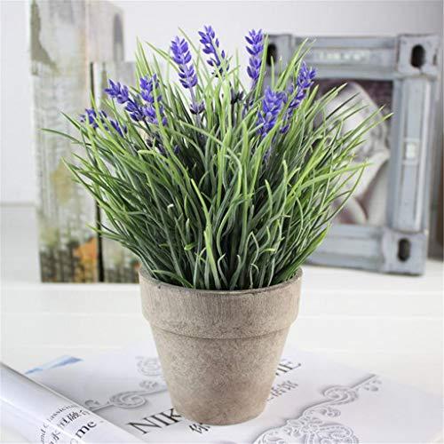 Hunpta @ Künstliche Pflanzen im Topf Topfpflanzen Kunstblatt für Haus Büro Balkon Garten Hochzeit Party DIY Valentinstag Dekoration