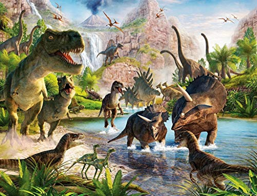 1000 Stuks Dinosaur Jigsaw Puzzel for Volwassenen & Kids - Dino Educational intellectueel spel Grote Puzzle Game Toys (Color : A)