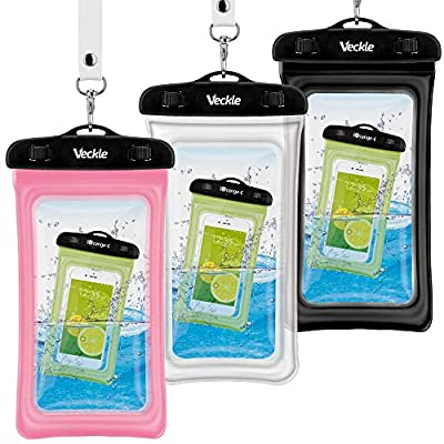 Waterproof Phone Pouch, Veckle 3 Pack Clear Uni...