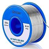 Fil à souder, fil d'étain de noyau de colophane de soudure sans plomb 97Sn-0.7Cu-0.3Ag, 0.8mm, 100g pour la soudure électrique et le bricolage