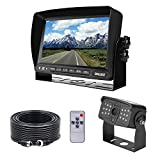 DALLUX Truck Backup Camera kit,HD 1080P Rearview Cab Cam with 7 inch Monitor+ 4 PIN Extension Cable for Bus/Truck/Van/Trailer/ RV/ Camper/ Motor Home/Pickup/Harveste/Heavy Duty Vehicles(12V-24V)