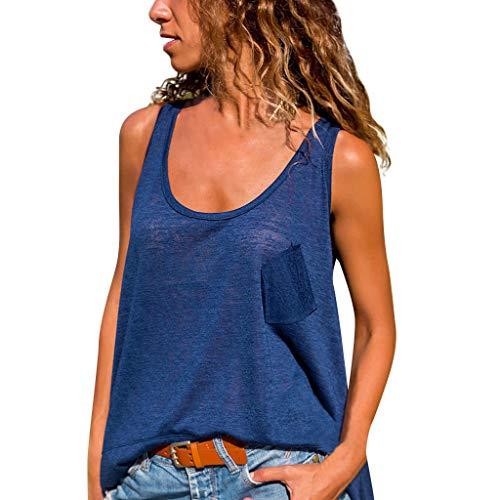 New Women Summer Beach Solid Vest Top Sleeveless Irregular Hem Blouse Casual Tank Loose T-Shirt Flow...