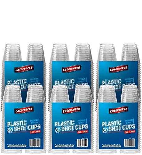 Bicchieri da shot usa e getta in plastica rigida trasparente, 30 ml - 1 oz (300 tazze)