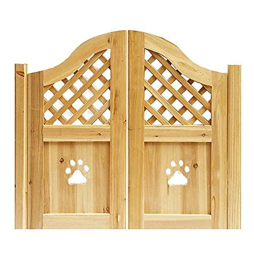 Interior Doors Paw Design Archway Style Saloon Doors Swinging Cafe Doors Include Hinges, Unfinished Pet Gate Fits Any 32-40 inch Door Opening Sizes, Size Customizable Parlor Butler Door Swinging Doors