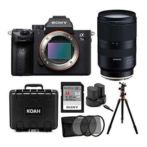 Sony a7 III Full Frame Mirrorless Interchangeable-Lens Camera (Body Only) with Tamron 28-75mm f/2.8 Di III RXD Lens for Sony...