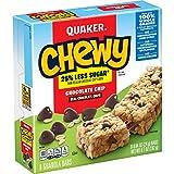 Quaker Chewy Granola Bars, 25% Less Sugar Chocolate Chip, 8 Bars