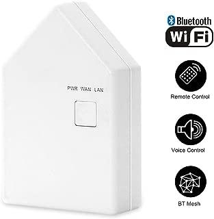 INDARUN Bluetooth Mesh Smart Bridge, Energy-saving Smartphone App-controllable Intelligent Home Hub Compatible with Alexa and Google Home
