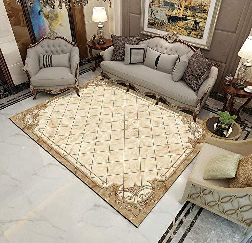 DLSM Modern and simple imitation marble pattern line segmentation geometric pattern printing carpet bedroom kitchen living room bathroom sofa coffee table corridor carpet-100x160cm