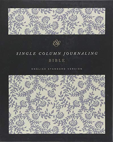 ESV Single Column Journaling Bible (Cloth Over Board, Flowers)