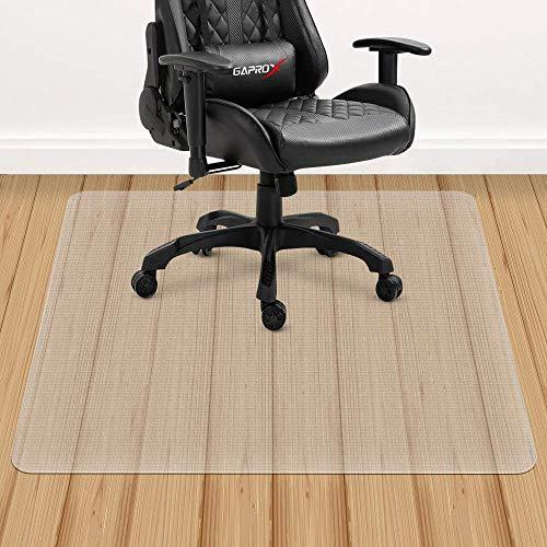 YINN Transparente Stuhlmatte, dickes PVC, kratzfester Teppichschutz, wasserdichte Bodenschutzmatte für harte Holzböden und Niederflorteppiche, für Stuhlrollen.